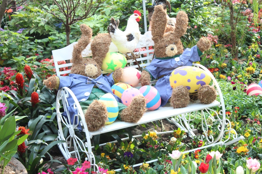 They have such cute Easter displays:)