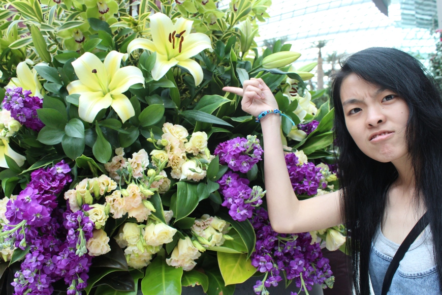 My sister's hatred towards lilies, which caused her to have puffy eyes and fever!