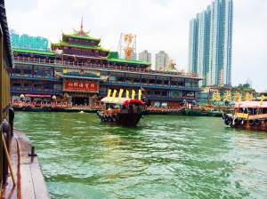 Jumbo Kingdom, the floating restaurant.