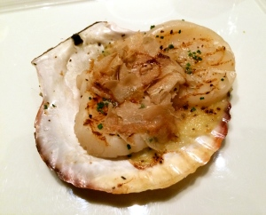 Scallops with truffles! Extremely good!